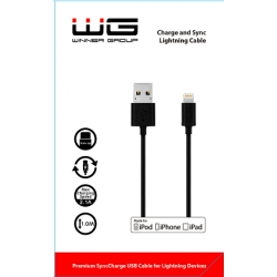 WG DAT. KABEL LIGHTNING MFI BLACK
