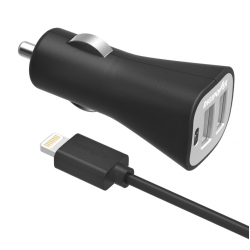 AUTONABÍJEČKA DIGIPOWER DUAL USB 3,4A MFI - BLACK