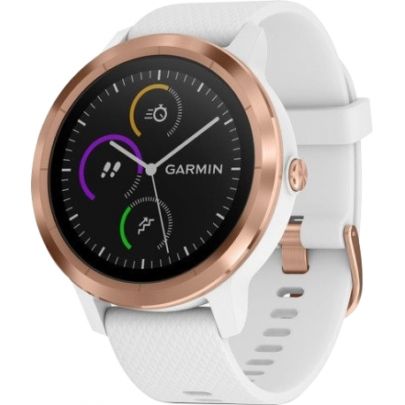 """HODINKY GARMIN VÍVOACTIVE3 OPTIC ROSE GOLD, WHITE BAND """