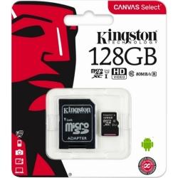 PAMĚŤOVÁ KARTA KINGSTON MICRO SDXC KARTA 128GB CLASS10 80R + S