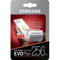 PAMĚŤOVÁ KARTA SAMSUNG MICRO SDHC KARTA 256GB EVO PLUS + SD ADAPTÉR