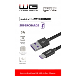 DATOVÝ KABEL TYPE-C 5A SUPER CHARGE - BLACK
