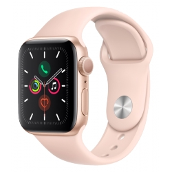 APPLE WATCH SERIES 5 - 40MM GOLD ALUMINIUM CASE, PINK SAND BAND