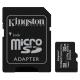PAMĚŤOVÁ KARTA 32GB MICROSDHC KINGSTON CL10 100MB/S + ADAPTER