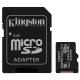 PAMĚŤOVÁ KARTA 128GB MICROSDXC KINGSTON CL10 100MB/S + ADAPTER