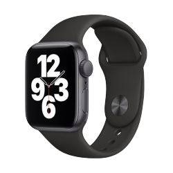 APPLE WATCH SE GPS - 44MM SPACE GRAY, BLACK SPORT BAND