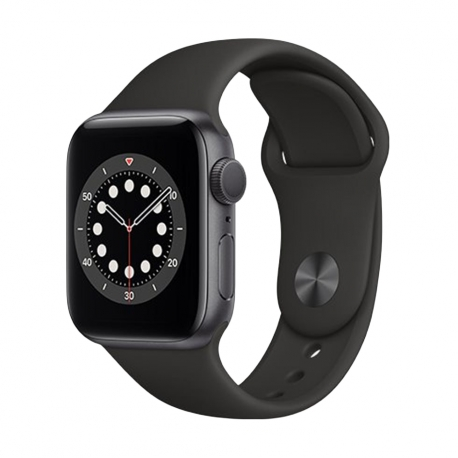 APPLE WATCH SERIES 6 GPS - 44MM SPACE GRAY, BLACK SPORT BAND