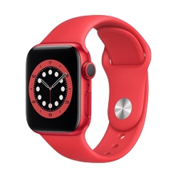 APPLE WATCH SERIES 6 GPS - 40MM RED CASE, RED SPORT BAND